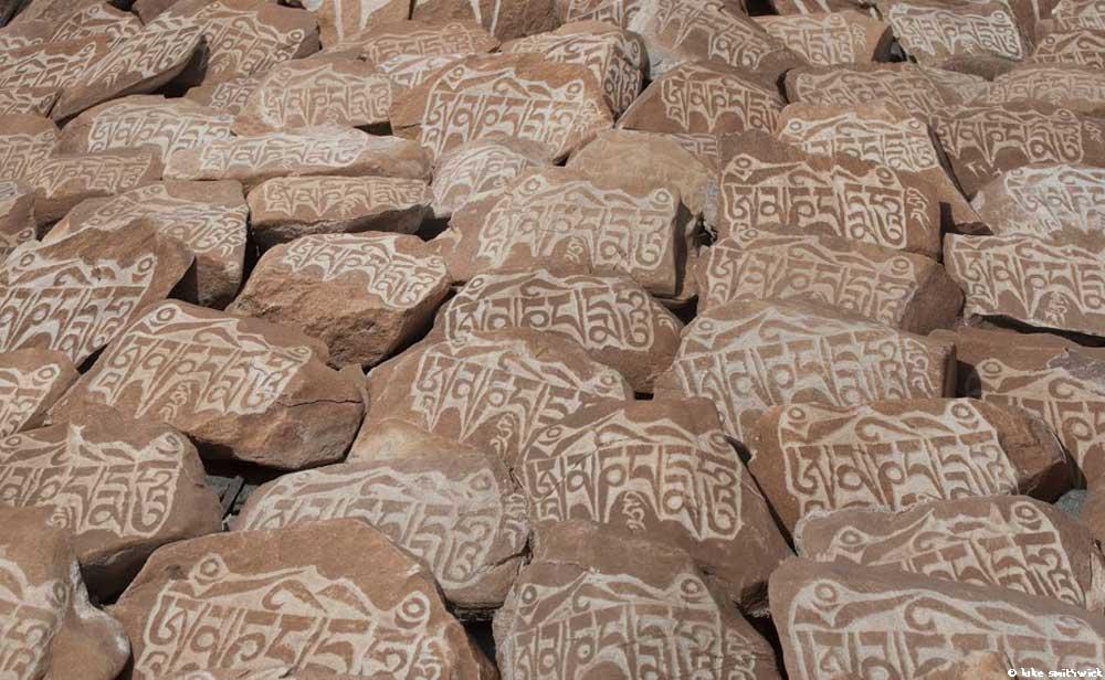 Mani stones.