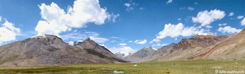 Wild trekking terrain in high Ladakh, India.